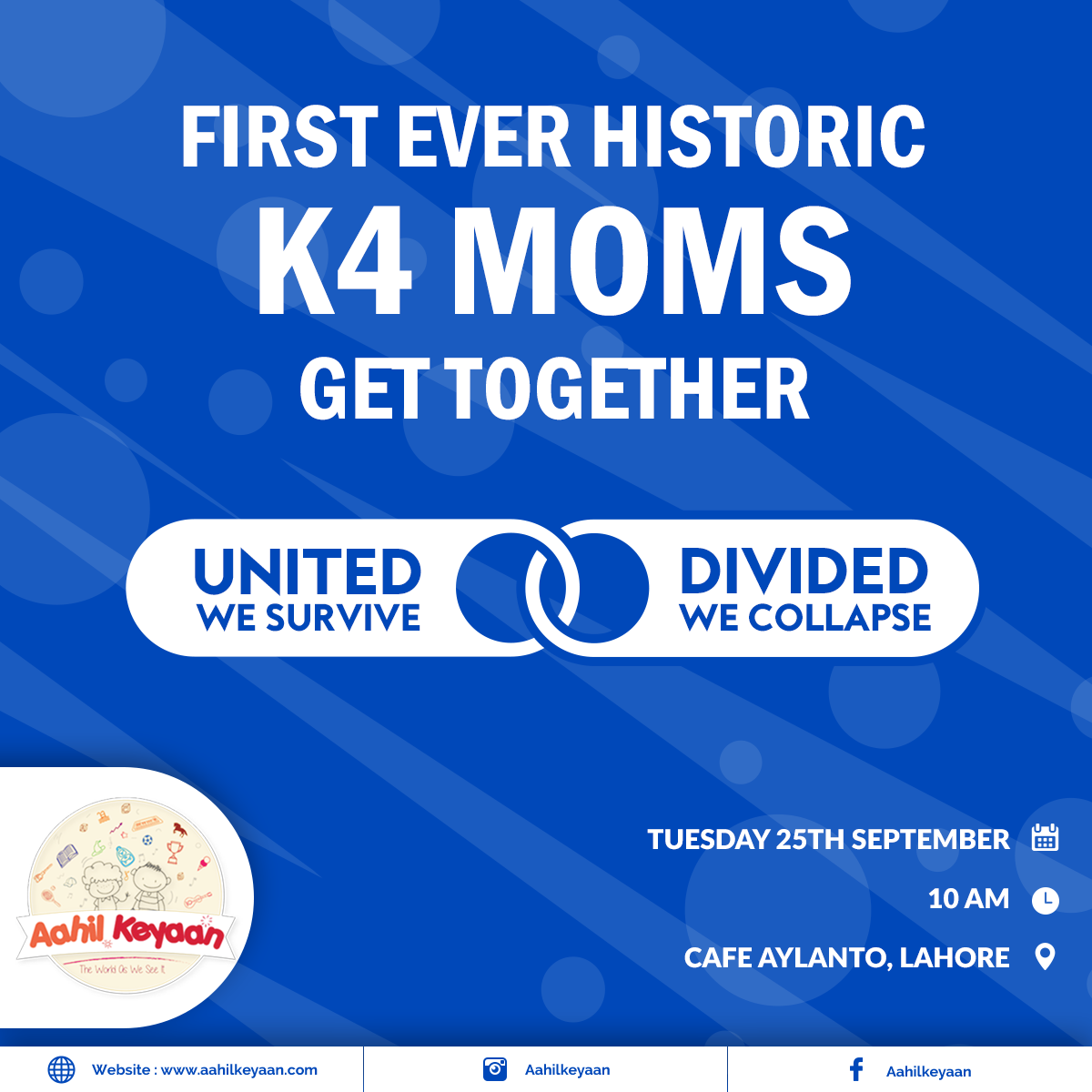 K4 Moms Get Together Facebook Post Design