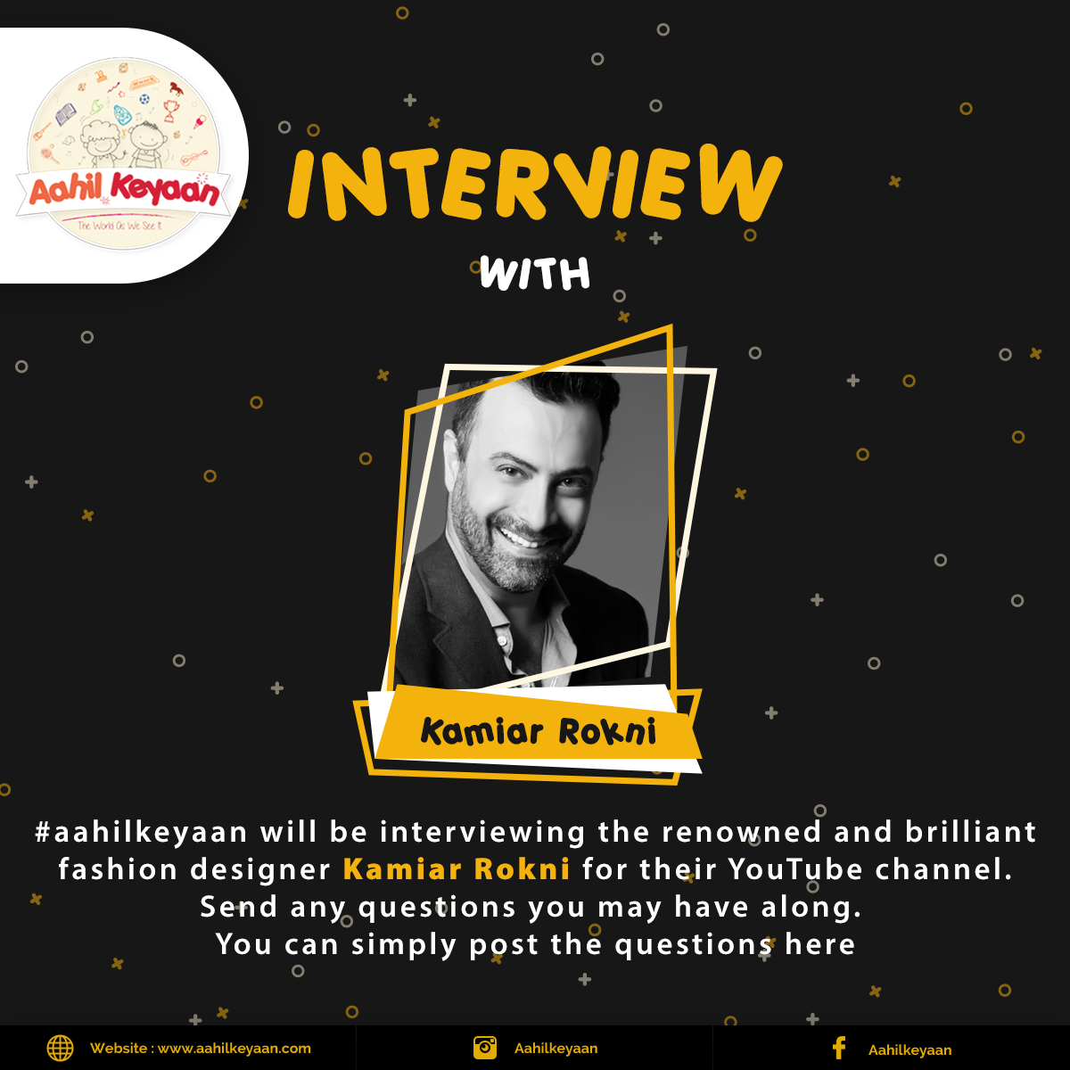 Interview With Kamiar Rokni Facebook Post Design