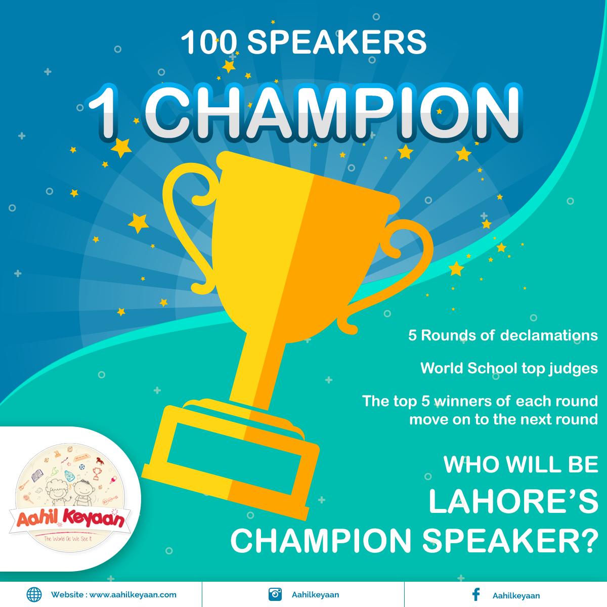 Speaker Contest Facebook Post Design