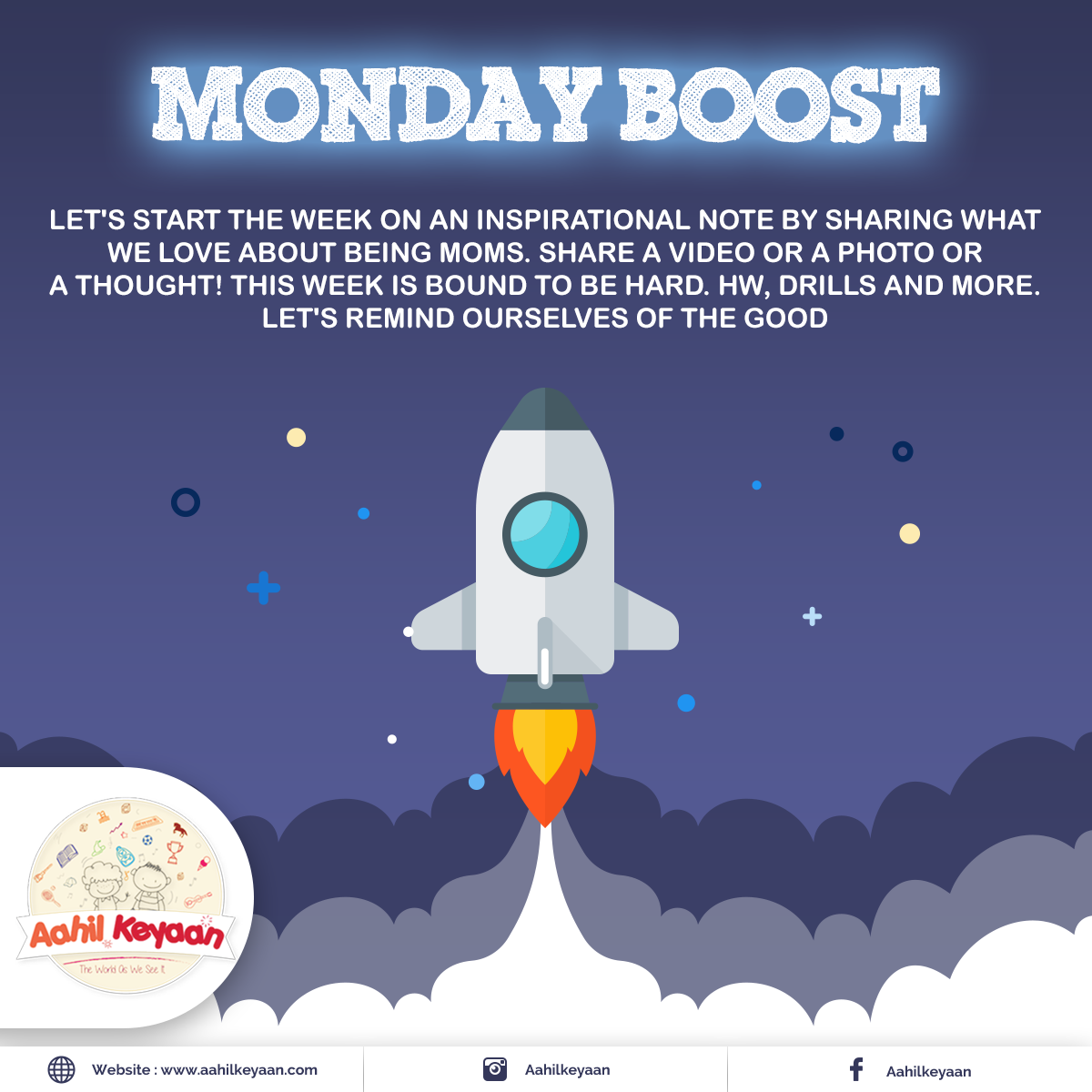 Monday Boost Facebook Post Design