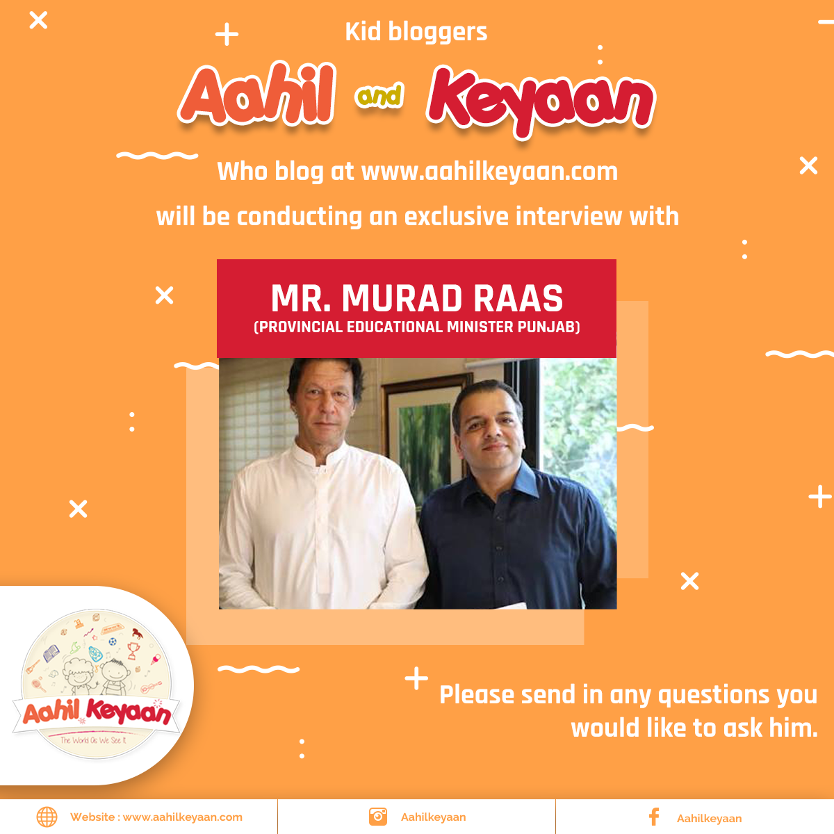 Interview With Mr. Murad Raas Facebook Post Design