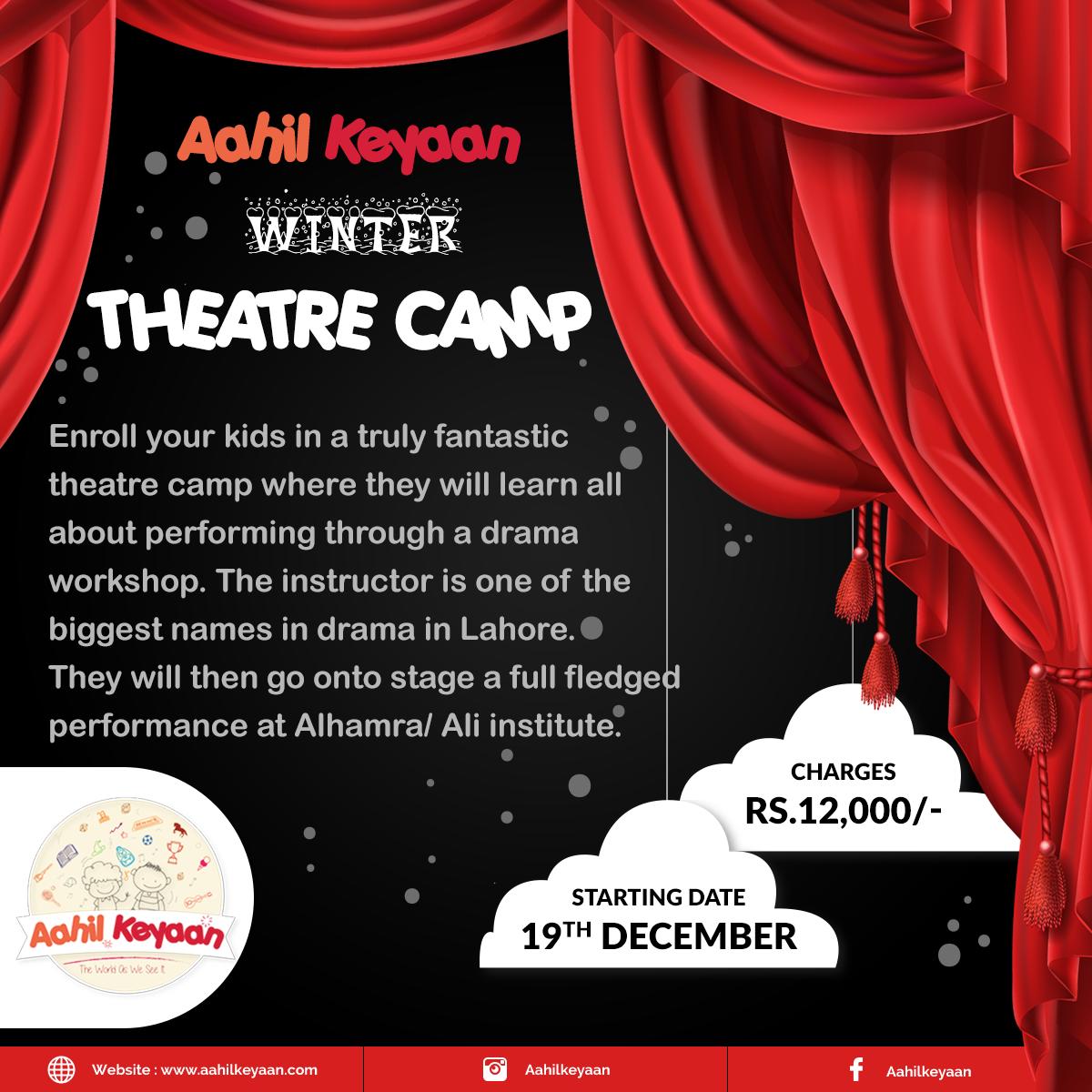 Winter Theatre Camp Facebook Post Design