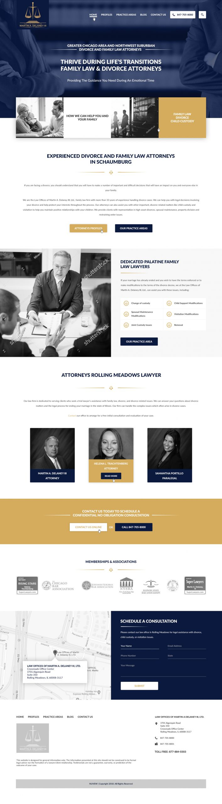 Chicago Family Law - Homepage Design