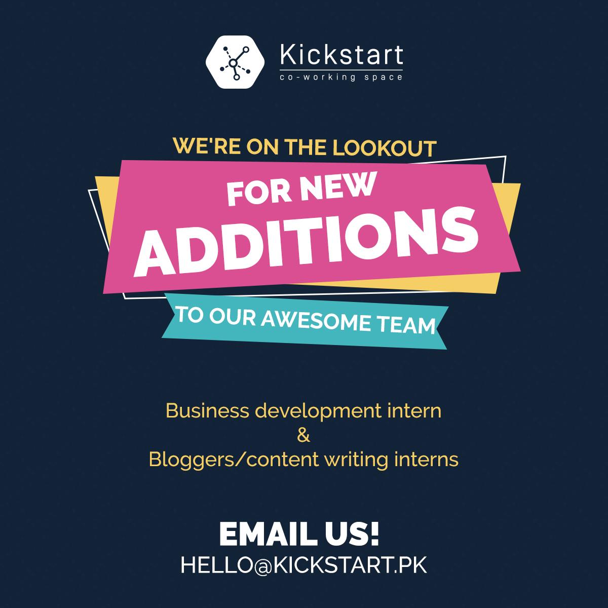 Kickstart Hiring Ad - Facebook Post Design