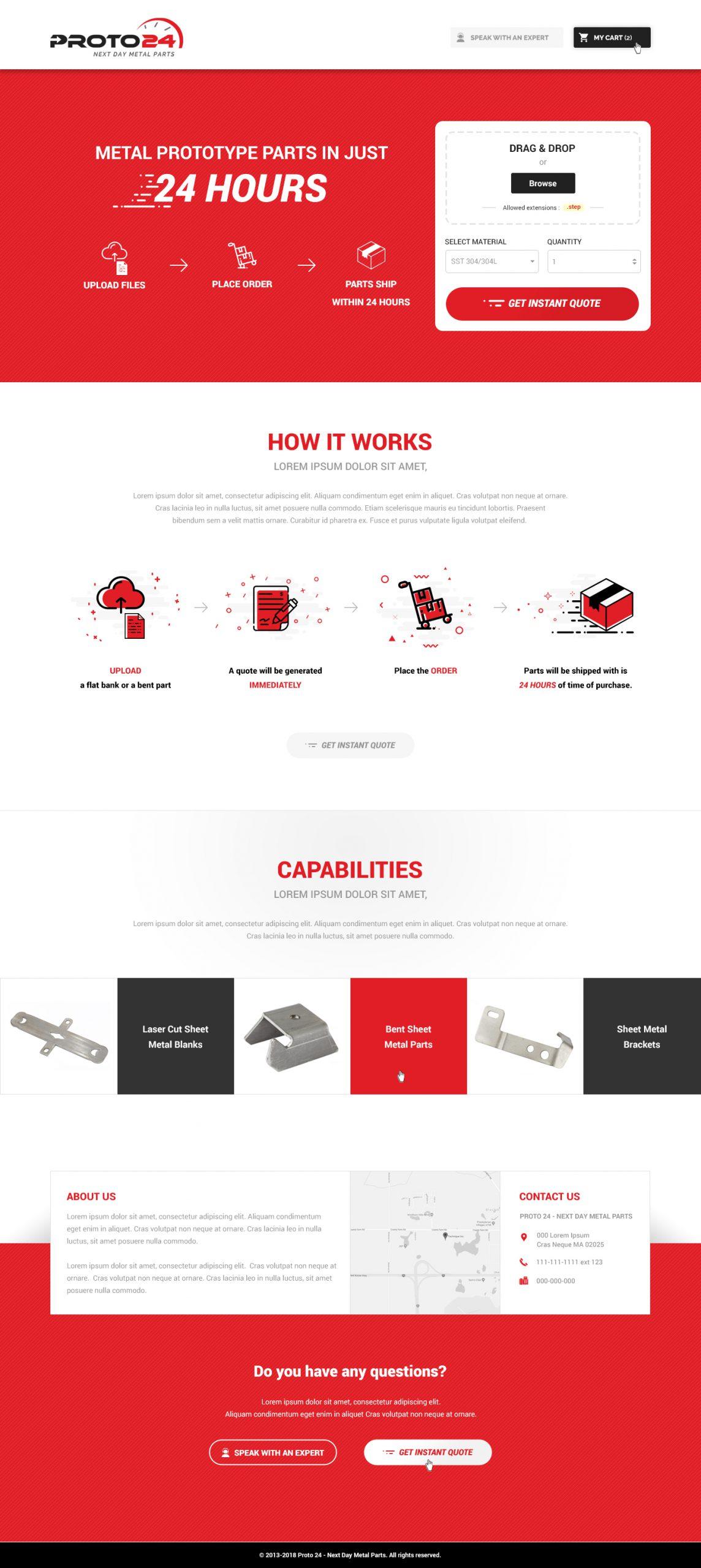 Proto 24 - Homepage Design