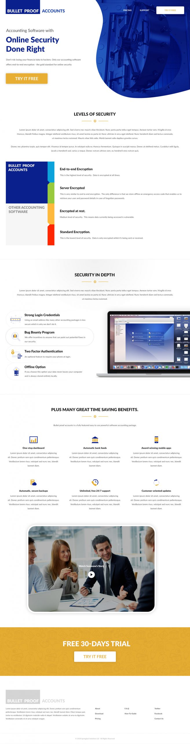 Solar Accounts - Homepage Design