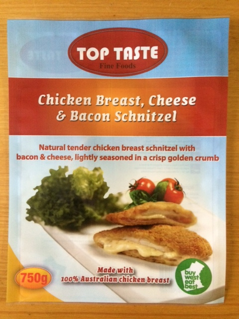 Chicken Breast, Cheese & Bacon Schnitzel