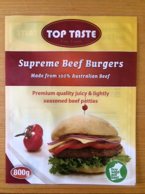 Supreme Beef Burger Patties