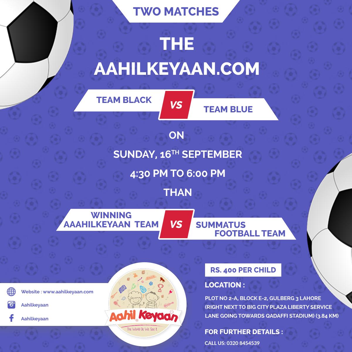Football Match Facebook Post Design