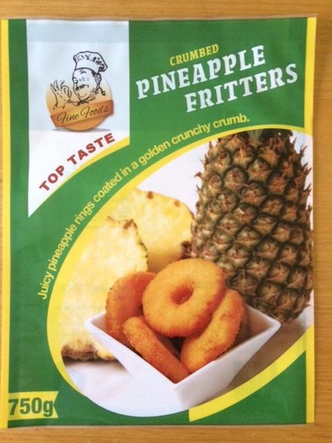 Banana fritters packaging design for Top Taste Australia